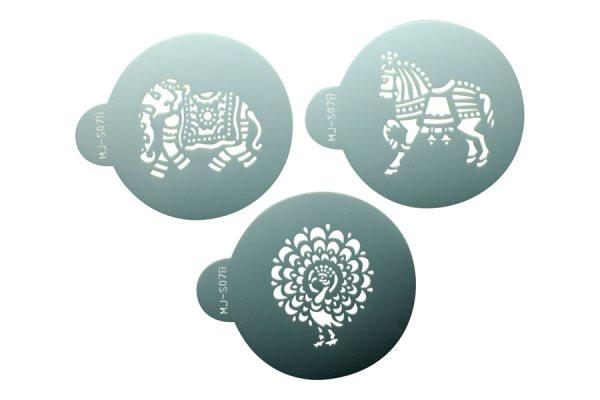 """Tortenkleid """"Dekoration"""" Designer Stencils - Indian Animals"""
