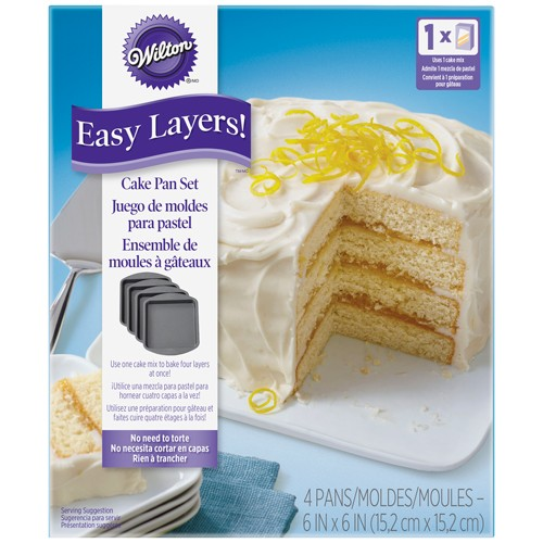 Wilton Backform Easy Layers Quadrat -15cm- Set/4