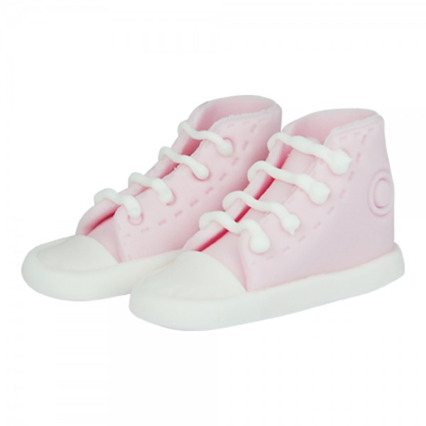 essbare Cake Topper Sneaker / Schuhe pink 2 Stück