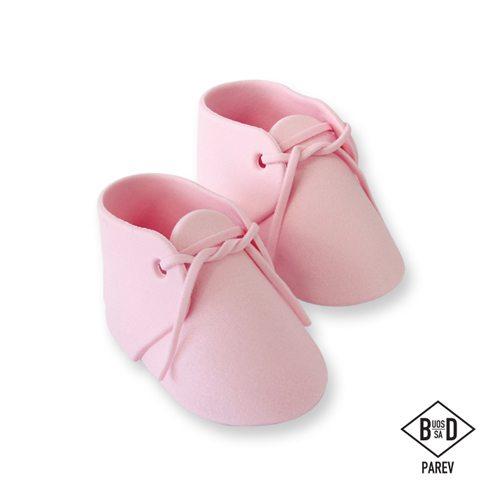 PME essbare Cake Topper Baby Schuhe Pink 2 Stück