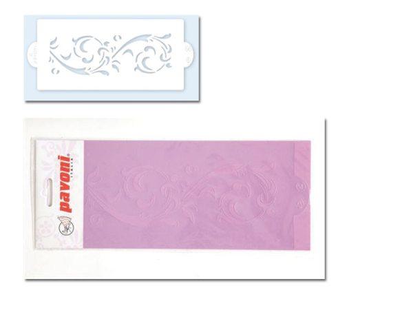 Pavoni Stencil / Schablone für Icing, Airbrush etc. Stencil04