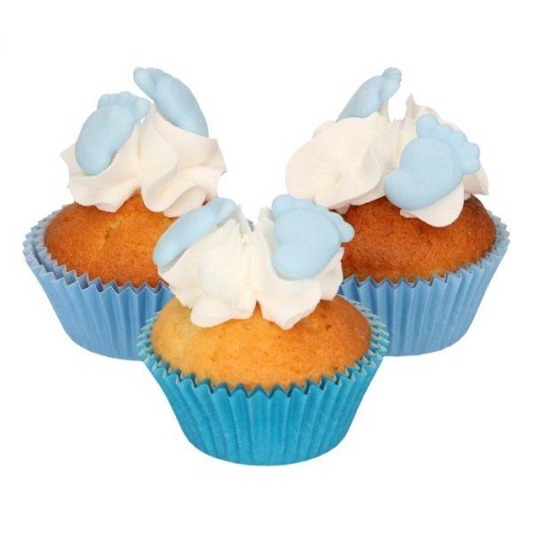 FunCakes Sugarpaste Baby Feet Blau 16 Stück