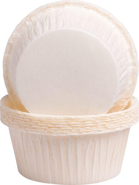 Muffinbackförmchen Weiß - 20 Stück, 5 x 3,2 cm