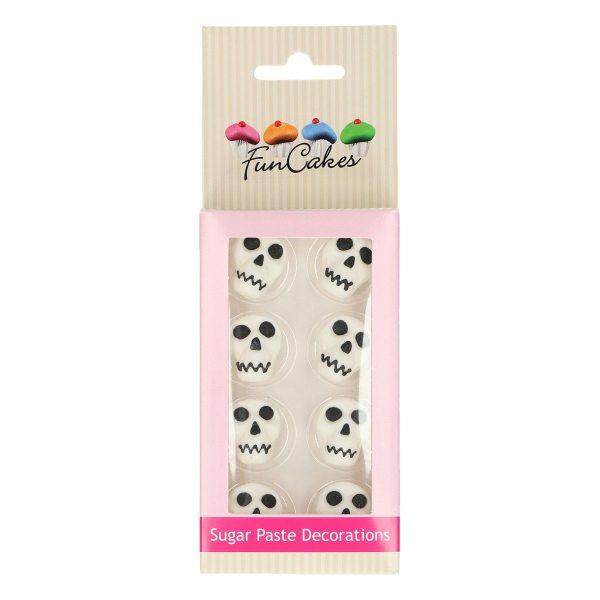 Funcakes Zucker Dekoration Totenköpfe 8 Stück