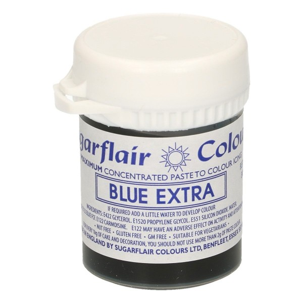 Sugarflair Paste Colour Blue Extra, 42g