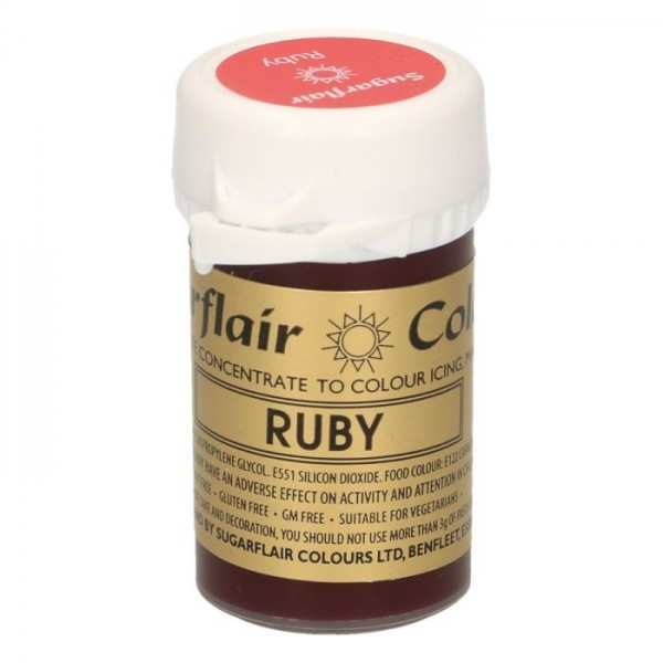 Sugarflair Paste Colour RUBY, 25gr.