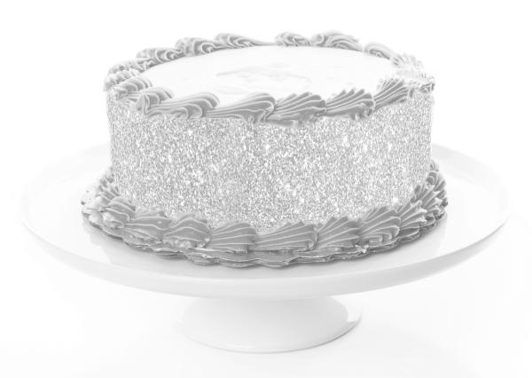 Tortenband Silber