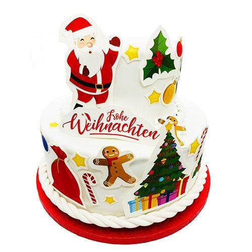 Tortenaufleger Kuchen Tattoo Weihnachten