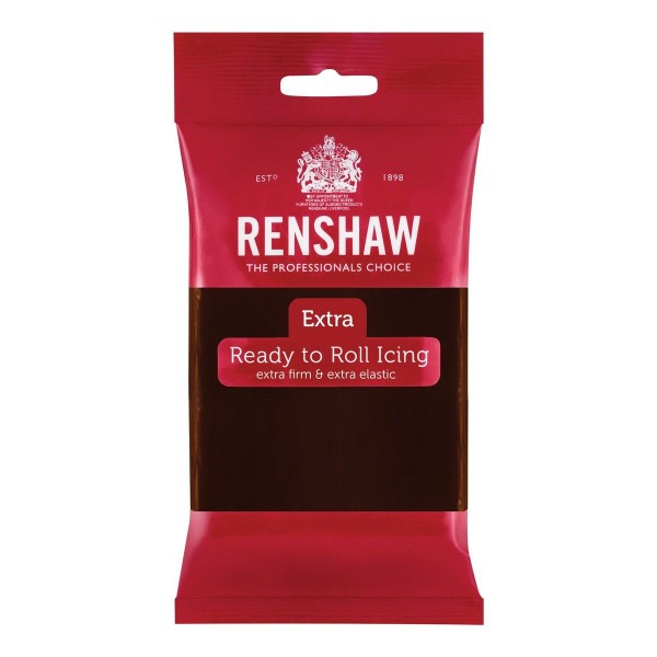 Renshaw Rolled Fondant Extra 250g -Chocolate Flavoured-