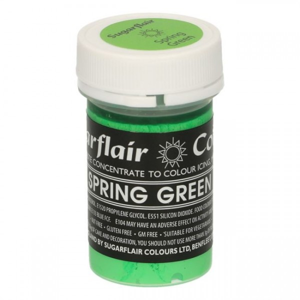 Sugarflair Pastel Colour Spring Green, 25g