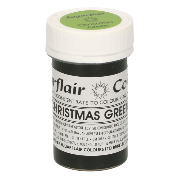 Sugarflair Paste Colour Christmas Green, 25g