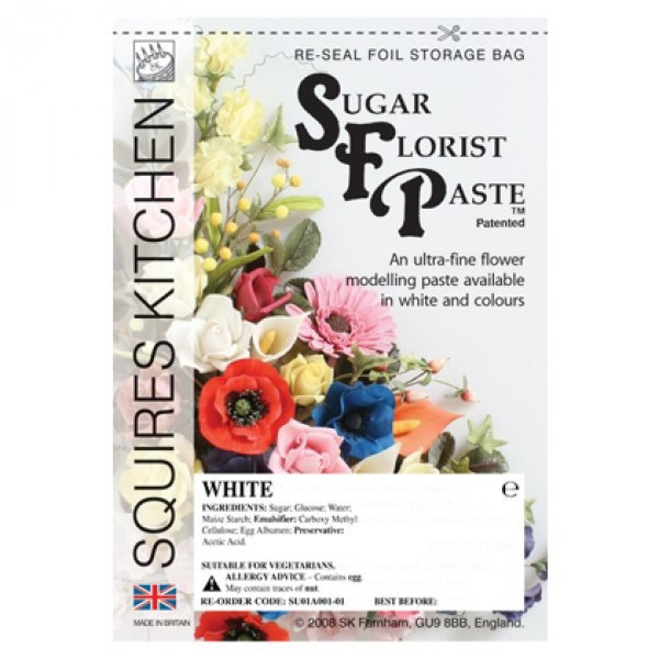 Squires Kitchen Sugar Florist Paste - Weiß 200g