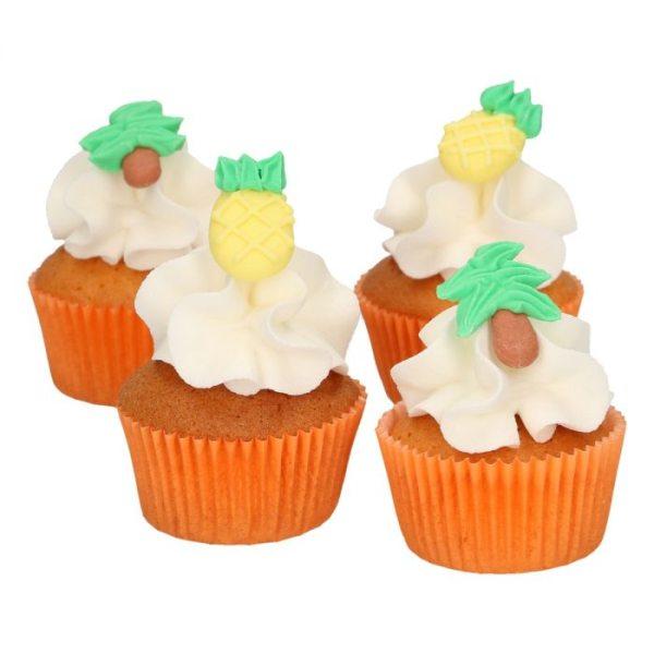 Funcakes Zucker Dekoration Ananas & Palmen Set 8 Stück