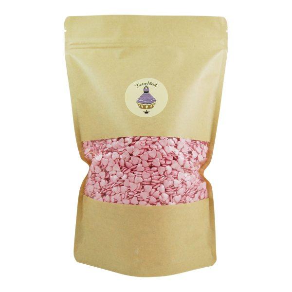 Zuckerstreusel Herzen pink 500g