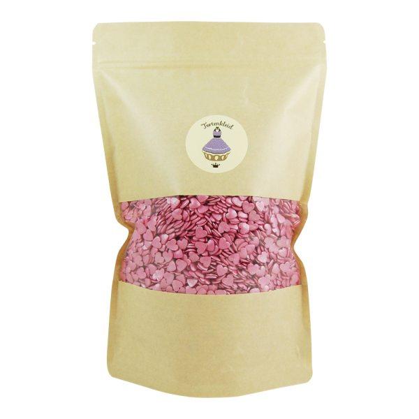 Zuckerstreusel Herzen Hot Pink 500g