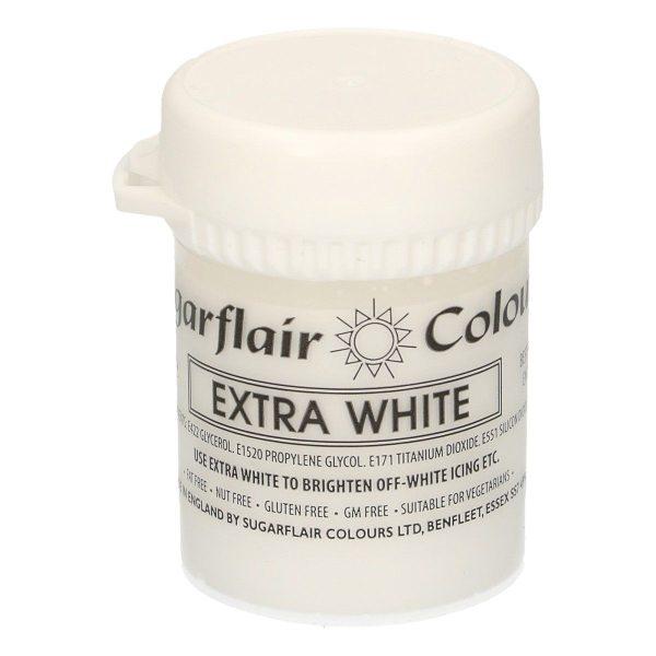 Sugarflair Paste Colour White Extra, 42g