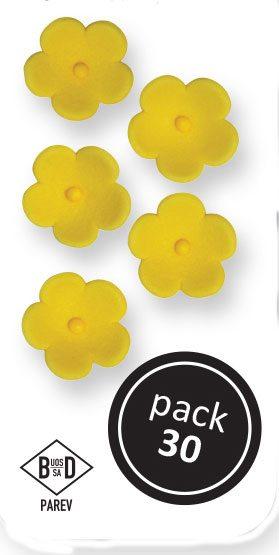 PME Blüten aus Zucker  ca 1,5 cm - Gelb - 30 Stück