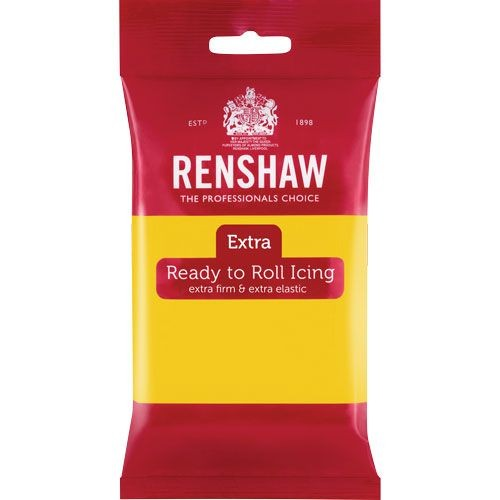 Renshaw Rolled Fondant Extra 250g - Yellow -