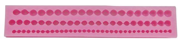 Tortenkleid Silikonform Perlenkette 14,12 und 10mm