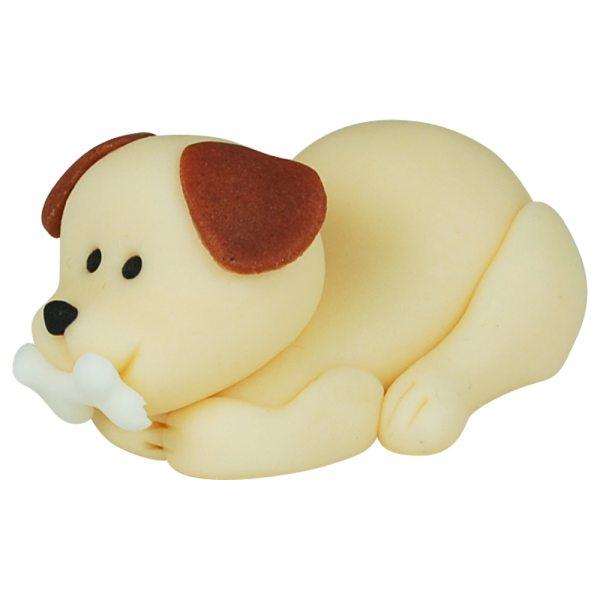 3D Zucker Figur Hund mit Knochen 1 Stück