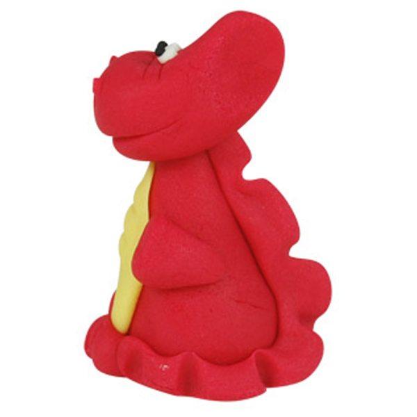 3D Zucker Figur Drache rot 1 Stück