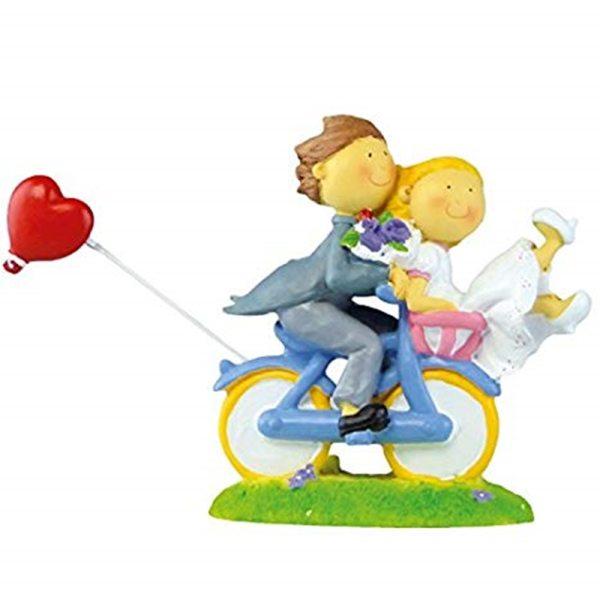 """Brautpaar """"auf Fahrrad mit Herz"""""""