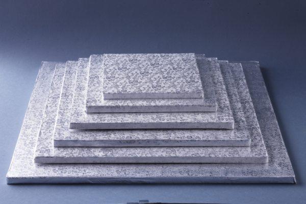 Tortenkleid Tortenplatte quadratisch 33 x 33 cm / 1,2 cm dick - 5 Stück