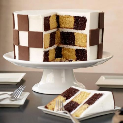 Wilton Checkerboard Cake Set/4