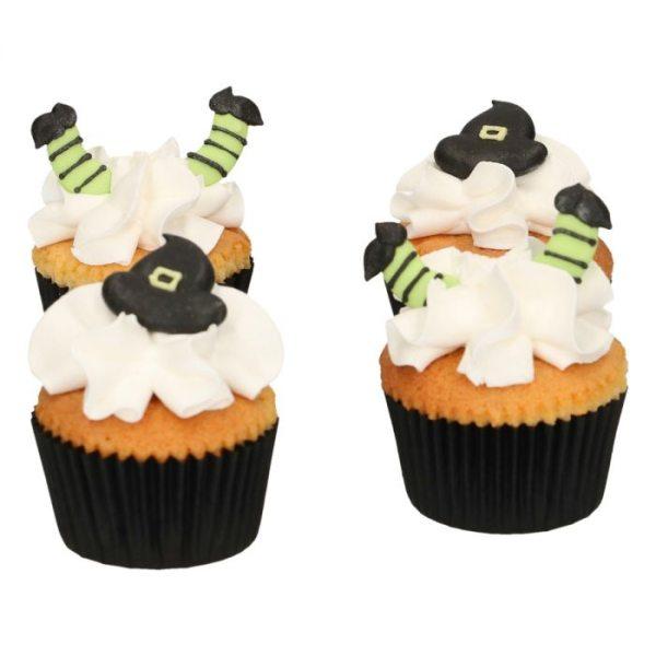 Funcakes Zuckerdekoration Halloween Hexen-Hut & Beine pkg/12