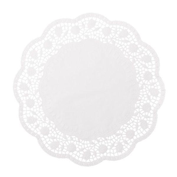 Tortenspitzen Motiv Rose, Papier - 6 Stück - 22cm