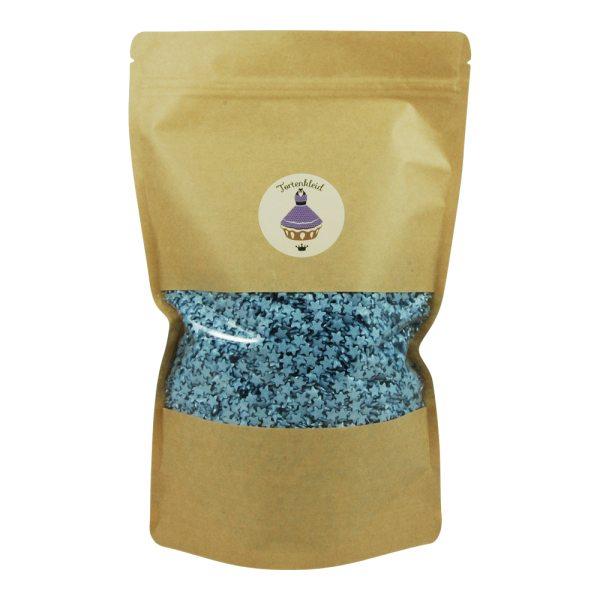 Streudekor Sterne Glimmer Blau 1kg