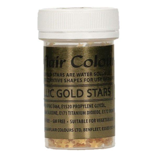 Sugarflair essbare Sterne Gold 3g