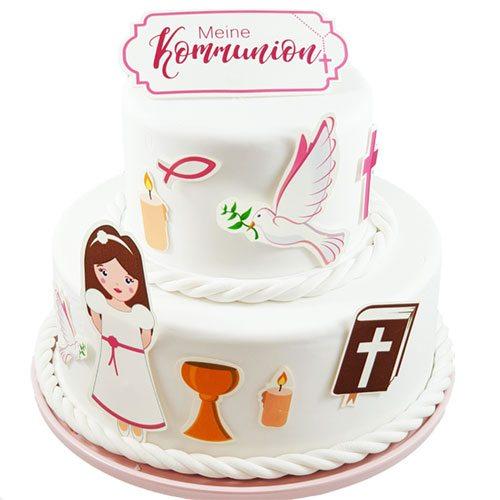 Tortenaufleger Kuchen Tattoo Kommunion Mädchen