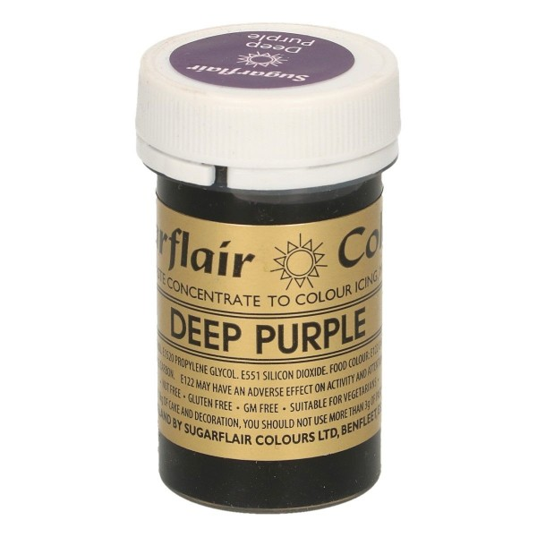 Sugarflair Paste Colour Deep Purple, 25g
