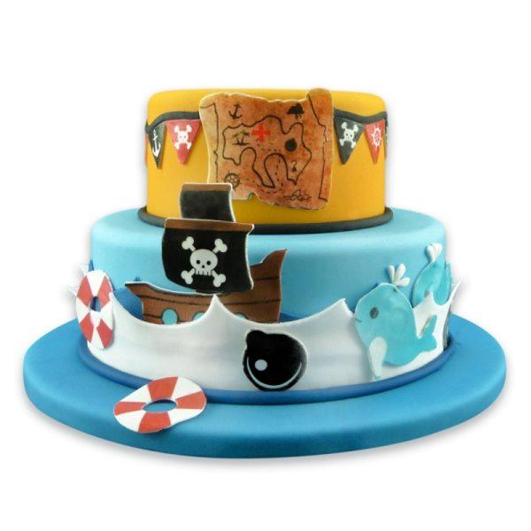 Tortenaufleger Kuchen Tattoo Pirat