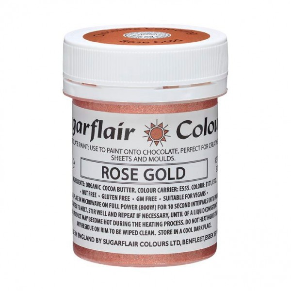 Sugarflair Kakaobutter Farbe Rose Gold 35g