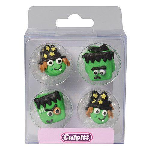 Culpitt Zucker Dekoration Monster & Hexen 12 Stück