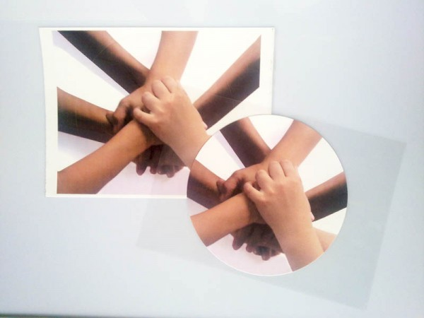 Dekorpapier Plus vorgestanzt d=5cm (DIN A4 / 24 Blatt)