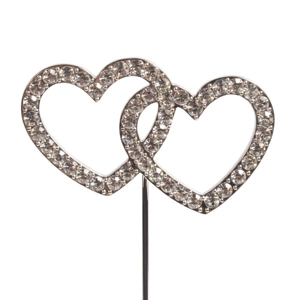 Cake Topper Diamanten Herzen