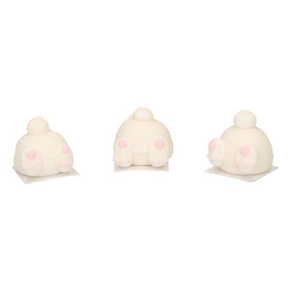 Funcakes Zucker Dekoration 3D Bunny Butts Set 3 Stück