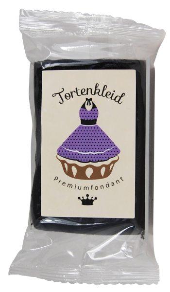 Tortenkleid Rollfondant schwarz 1 KG