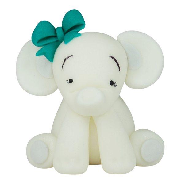 3D Zucker Figur Elefant Blau 1 Stück