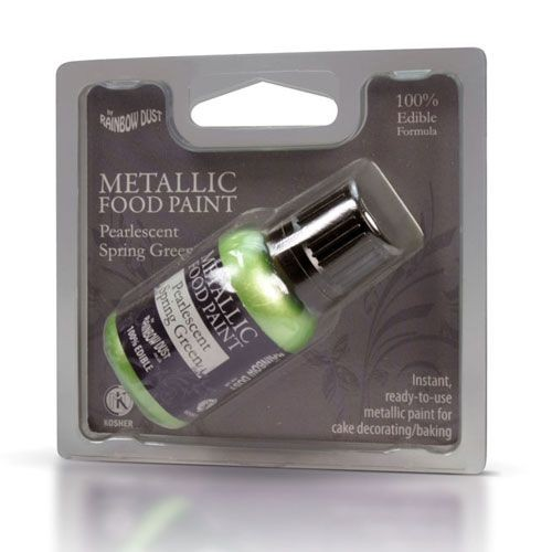 RD Metallic Food Paint Pearlescent Spring Green 25ml