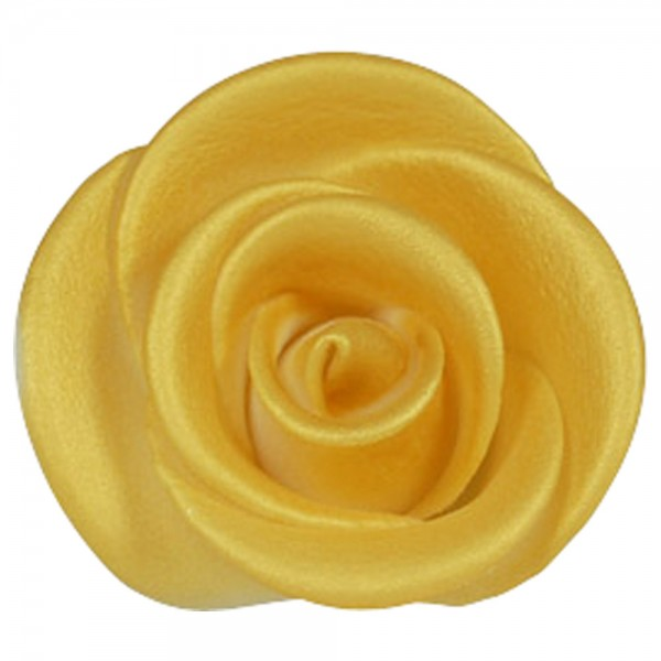 Zuckerrosen Gold groß 12 Stück 50mm