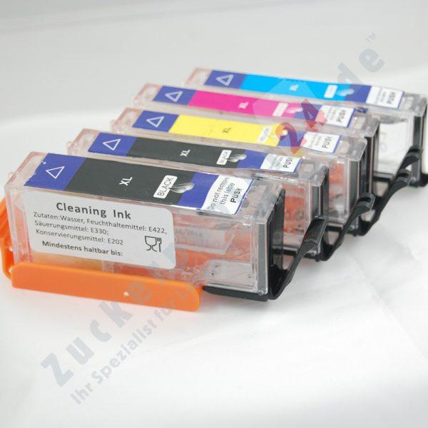 Spar-Set 5 Patronen (PGI-570Bk + CLI-571C/M/Y/Bk) zur REINIGUNG des Druckkopfes (keine Farbe)