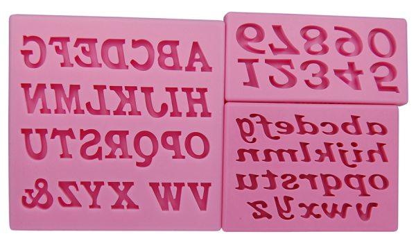 Tortenkleid Silikonform Zahlen und Buchstaben Old Style