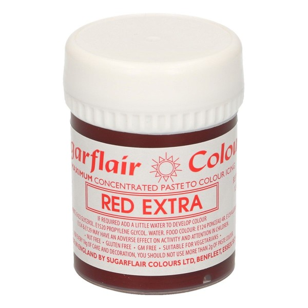 Sugarflair Paste Colour Red Extra, 42g