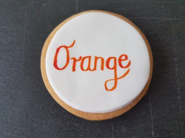Tortenkleid essbare Wassermalfarbe Orange 5g