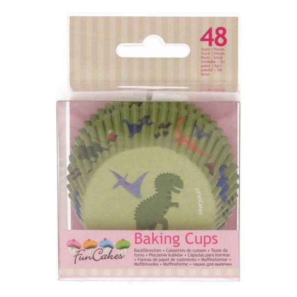 FuncCakes Baking Cups Dino 48/Pkg