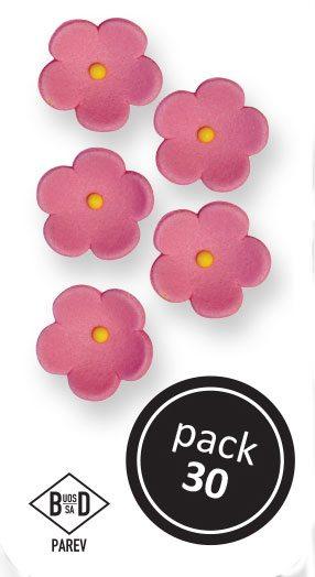 PME Zuckerblumen Blüten ca 1,5 cm - Pink - 30 Stück
